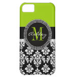 Lime Green Black Damask iPhone 5 Case-Mate iPhone 5C Case