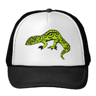Lime Green & Black Gecko Trucker Hat