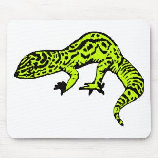 Lime Green Black Gecko Mousepads