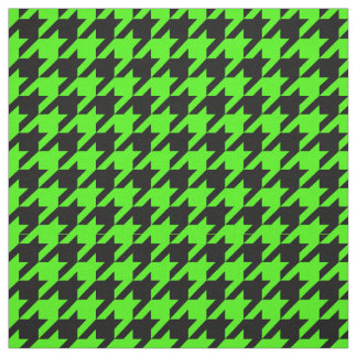 Lime Green, Black Houndstooth Pattern #2M Fabric