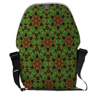 Lime Green Bohemian Messenger Bag
