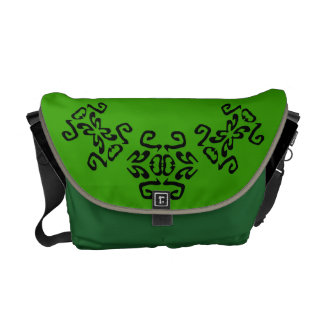 Lime Green Bold Scrollwork Classy Commuter Bag