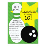 Lime Green Bowling Bash Bowling Birthday Party