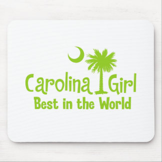 Lime Green Carolina Girl Best in the World Mouse Pads