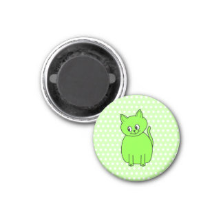 Lime Green Cat Magnet