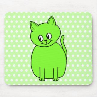 Lime Green Cat. Mousepad