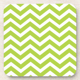 Lime Green Chevron Coasters