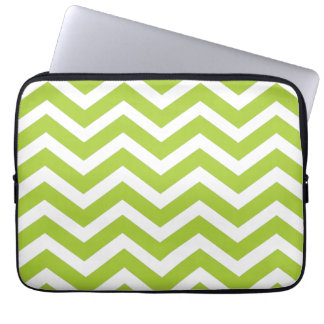Lime Green Chevron laptop case Computer Sleeves