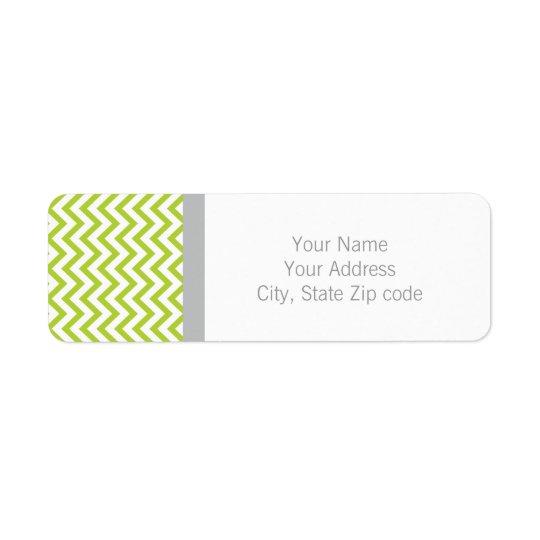 Lime Green Chevron Return Address Label