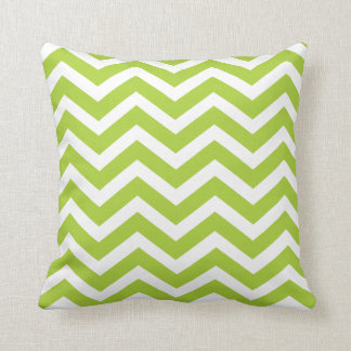 Lime Green Chevron Toss Pillow Throw Cushion