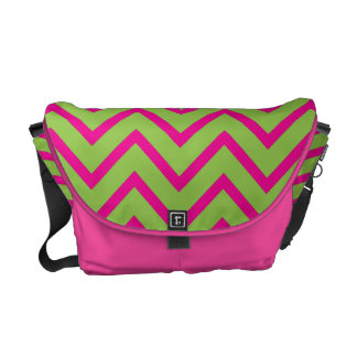 Lime Green Chevrons Commuter Bags
