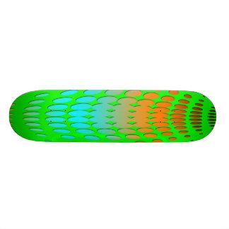 lime green circle skateboard design