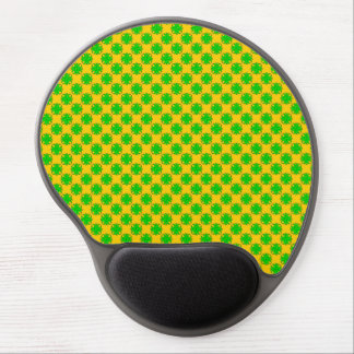 Lime Green Clover Ribbon Gel Mouse Pad
