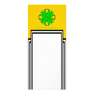 Lime Green Clover Ribbon Full Color Rack Card
