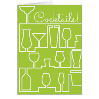 Lime green cocktail party card