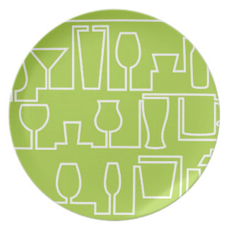 Lime green cocktail party plate