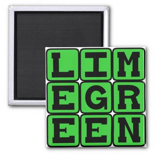Lime Green, Color Fridge Magnets