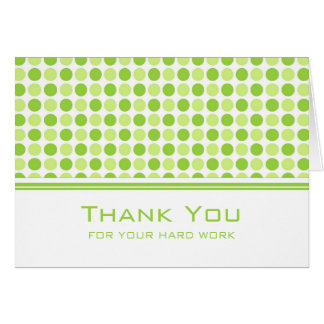 Lime Green Dots Employee Anniversary Card