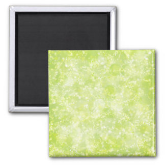 Lime Green Fairy Dust Bokeh 2 Inch Square Magnet