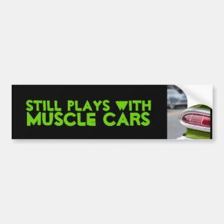 Lime Green Fin Car Bumper Sticker