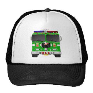 Lime Green Fire Truck Cap