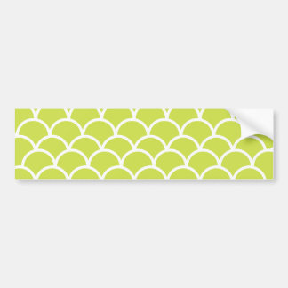 Lime green fish scale pattern bumper sticker