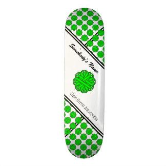 Lime Green Flower Ribbon 19.7 Cm Skateboard Deck