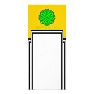 Lime Green Flower Ribbon Full Colour Rack Card