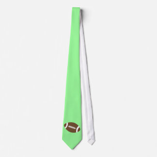 Lime Green Football Tie