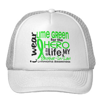 Lime Green For Hero 2 Brother-In-Law Lymphoma Trucker Hats