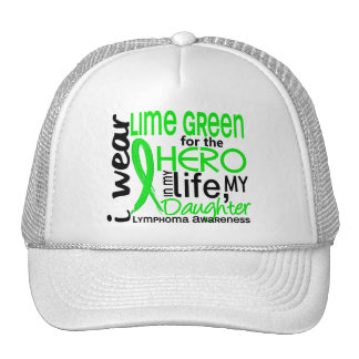 Lime Green For Hero 2 Daughter Lymphoma Trucker Hat
