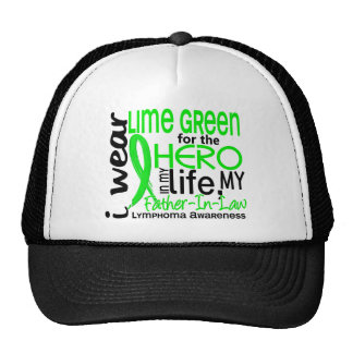Lime Green For Hero 2 Father-In-Law Lymphoma Cap