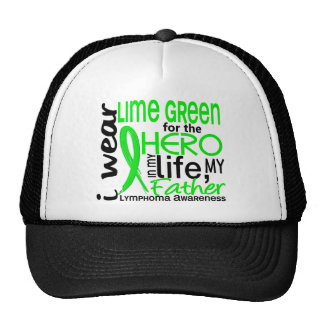 Lime Green For Hero 2 Father Lymphoma Trucker Hat
