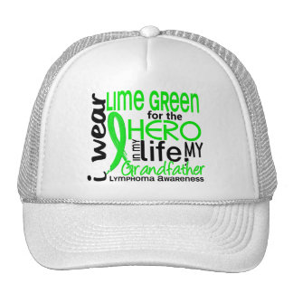Lime Green For Hero 2 Grandfather Lymphoma Trucker Hat