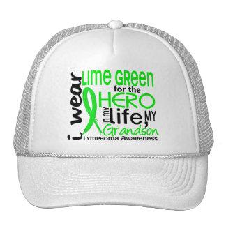 Lime Green For Hero 2 Grandson Lymphoma Mesh Hat