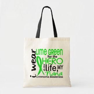 Lime Green For Hero 2 Nana Lymphoma Tote Bags