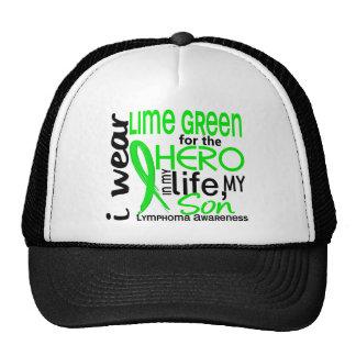 Lime Green For Hero 2 Son Lymphoma Trucker Hat