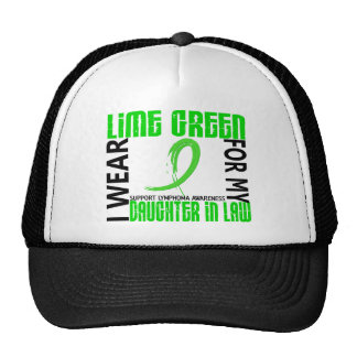 Lime Green For My Daughter-In-Law 46 Lymphoma Trucker Hats
