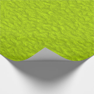Lime Green Fur Look Design Wrapping Paper