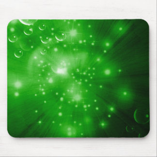 Lime Green Galaxy Burst Mouse Pad