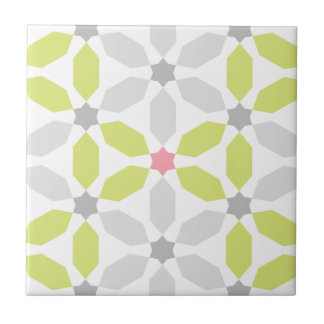 Lime Green Geometric Pattern Tile