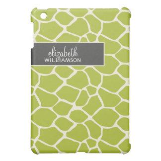 Lime Green Giraffe Pern iPad Mini Covers