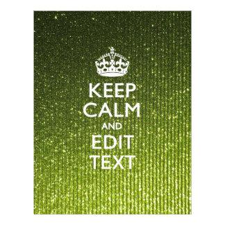 Lime Green Glamour Keep Calm Saying 21.5 Cm X 28 Cm Flyer