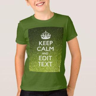 Lime Green Glamour Keep Calm Saying T-shirts