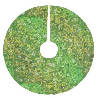 Lime Green Glitter Christmas Magic Sparkle Brushed Polyester Tree Skirt