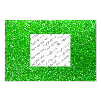 Lime green glitter photographic print