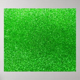 Lime green glitter poster