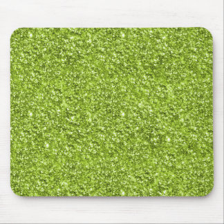 Lime Green Glitter Print Mouse Pad