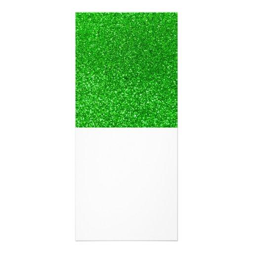 Lime green glitter customized rack card