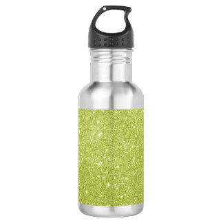 Lime Green Glitter Sparkles 532 Ml Water Bottle